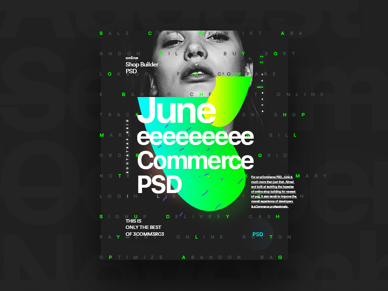 Debut - June Promo Poster web design fashion typography clean psd website ux ui ecommerce poster debut