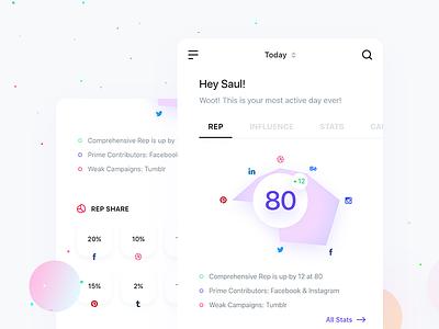 REPPR track xd ios clean chart social data stats web interface app ui
