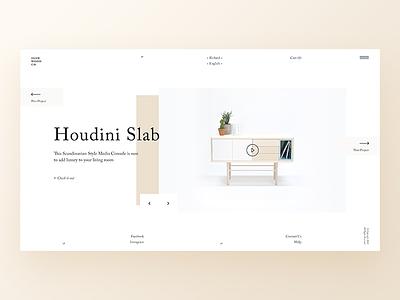 SlimWood Co blog interior furniture shop layout elegant ecommmerce grid ux ui website web design