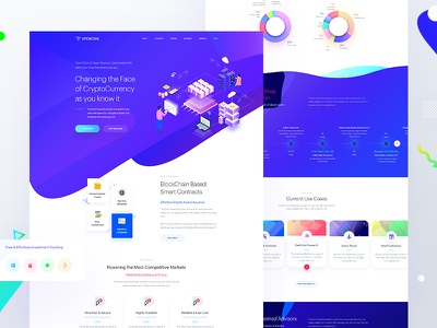 Crypto Coin Landing Page web card ux ui interface blockchain landing website app wallet currency crypto