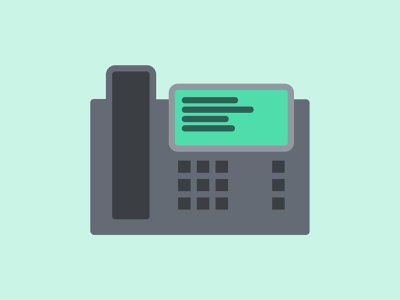 Office Phone telecommunication telephone telecom corporate design illustration desk phone office