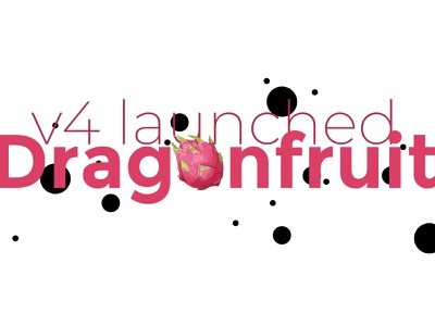 Dragonfruit v4 typography depth launched fruit dragon fruit dragonfruit dots contrast type ui design