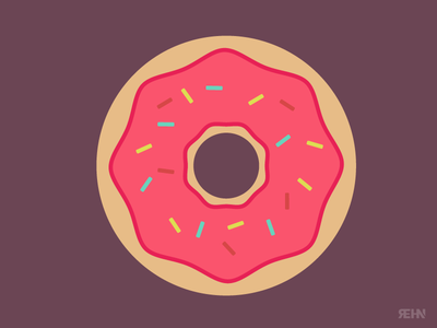Donut glazed frosting dessert desert jimmys sprinkles junk food donut
