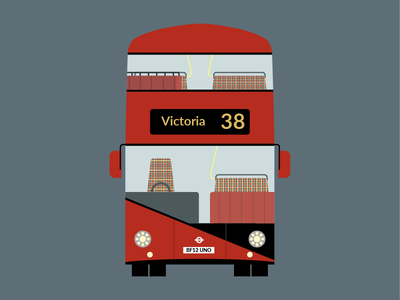 Double Decker Bus vehicle transport transit sticker decker heatherwick double uk london bus