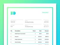 Dzgn.IO Invoice