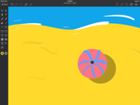 Ipad Vector Beach
