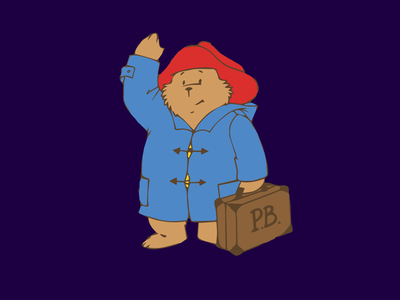 Paddington cartoon brit illustration bear paddington sticker halloween