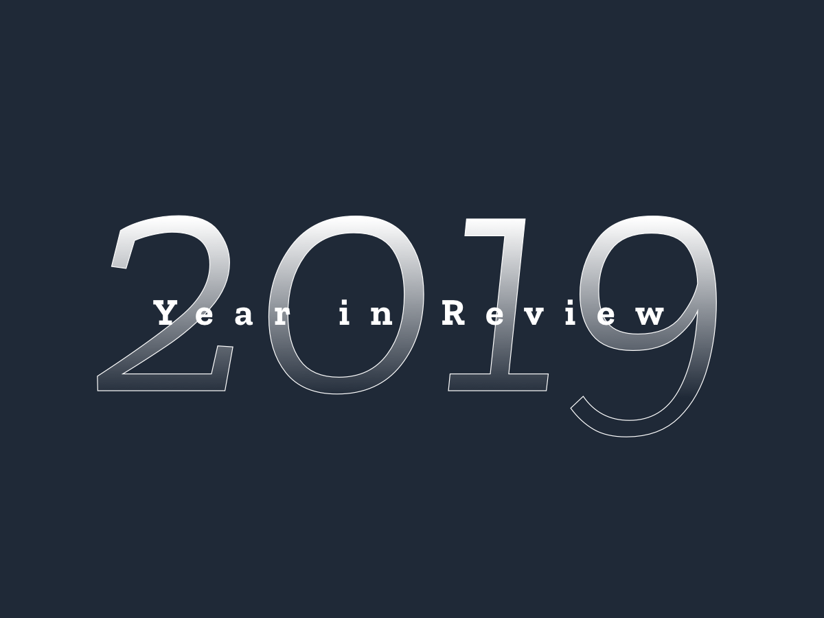 2019 Year in Review gradients 2020 2019 typograhy type ui