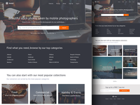 Mobli - Mobile Stock Photography Website Concept