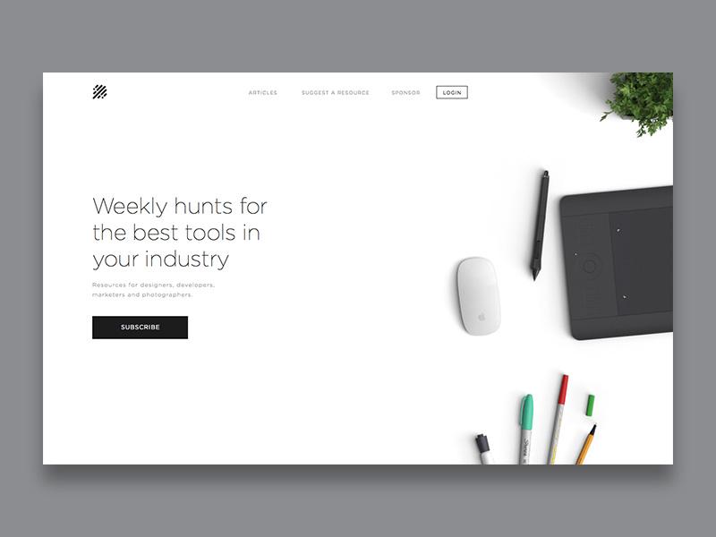 Homepage Design clean simple homepage