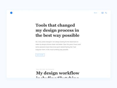 Design Circle simple clean blog ui