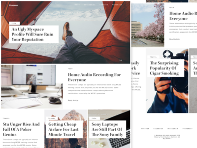 Wonder Wordpress theme alternate layout blog web elegant typography theme wordpress ui