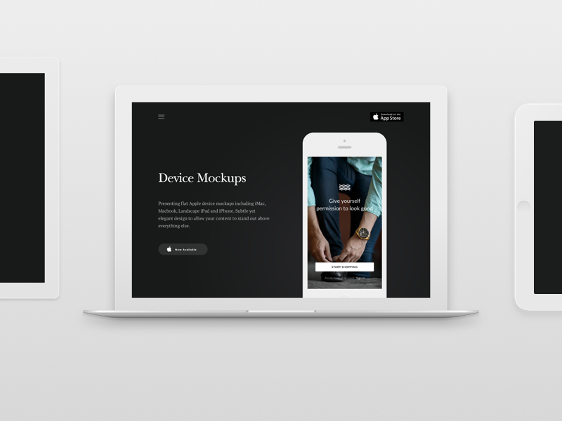 Elegant Device Mockups for Sketch tablet imac macbook ux app mobile clean ios device elegant ui mockups