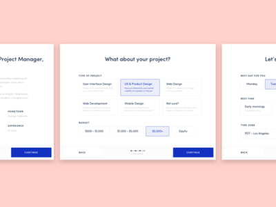 Booking form project product ux ui startup clean form booking