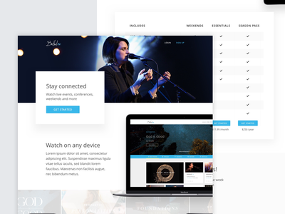 Unused landing page concept for Bethel tv video pricing bethel ui landing page