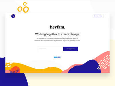 Introducing Heyfam patterns job board job site color minimal abstract email landing page