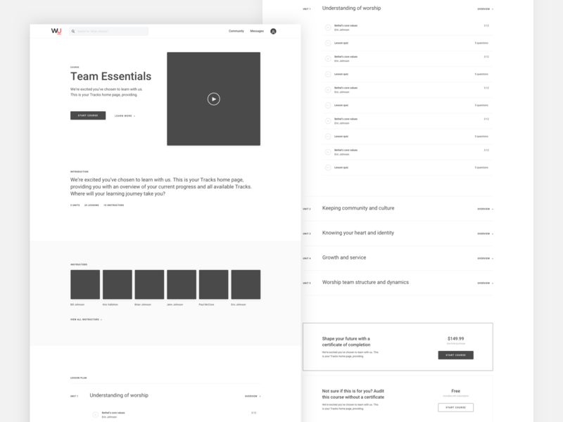 Course overview exploration list pricing course video ux ui overview