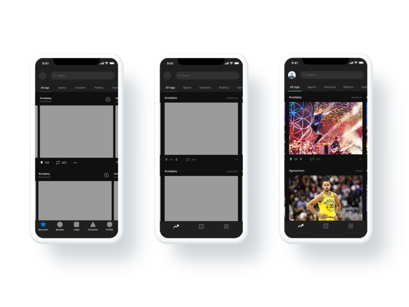 The ever-evolving process ux-ui process coldplay warriors trending discover mobile ios