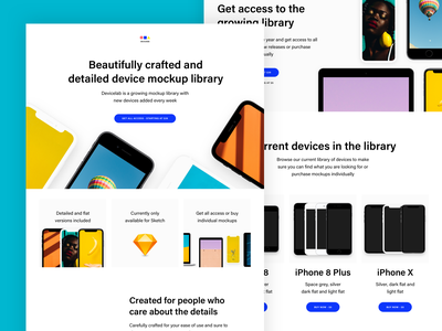 Devicelab marketing color landing page devices device mockup