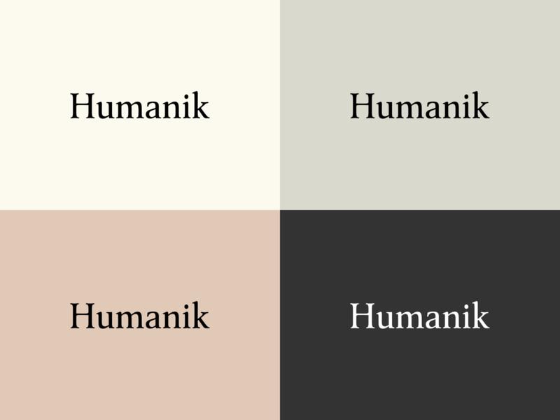 Humanik logo minimal clean logo