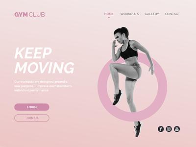 Daily UI #003 | Landing Page gym landingpage dailyui 003