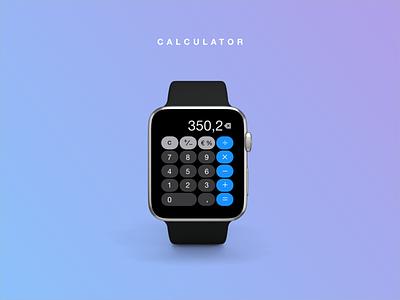 Daily UI #004 | Calculator apple watch ui calculator dailyui 004