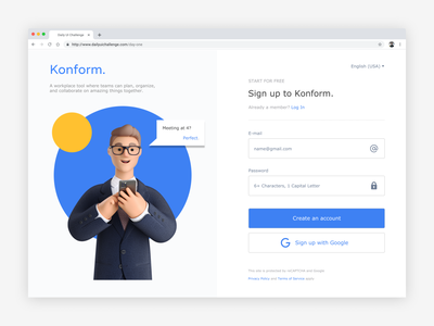 Sign Up dailyui website web ux ui minimal flat design