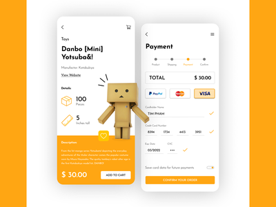 Payment Checkout app minimal flat mobile ux ui design dailyui