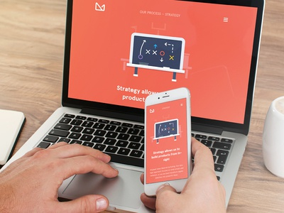3magine redesign - internal content page content responsive ui ux illustration flat gif orange 3magine toronto