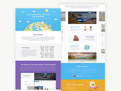 Tripixy case study ui ux purple orange blue web design landing case study tripixy