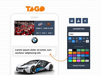 Ticket customizing app customizer app landing webdesign toronto design web 3magine webapp