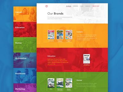 Our Brands - Media Classified redesign 3magine toronto webdesign ui ux green red orange brands color landing redesign