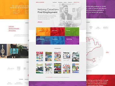 Media Classified Redesign purple blue red orange ux ui landing color design 3magine