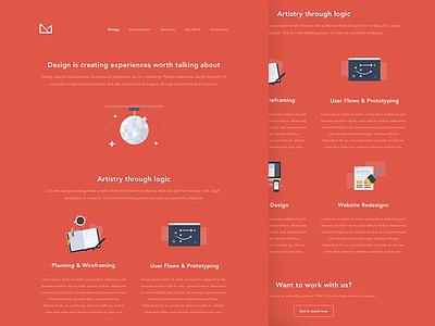 Web & Mobile Design mobile web 3magine animation illustration red design landing