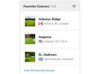 Favorite Golf Courses