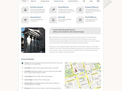 Law Firm Website law lawyer landing full website blue white grey hero icons webdesign
