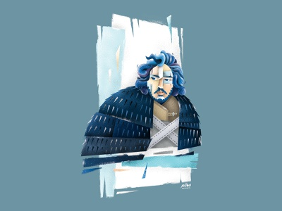 Jon Snow: Game of Thrones fan art digital art poster art stylized illustration portrait illustration portrait art editorial illustration illustration illustrator g.o.t. game of thrones jon snow