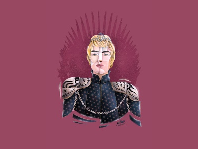 Cersei Lannister: Game of Thrones illustrator poster art stylized illustration digital art fan art portrait illustration editorial illustration portrait art illustration cersei lannister game of thrones