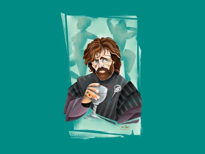 Tyrion Lannister: Game of Thrones texture vector cintiq illustrator man actor character digital art portrait character design tyrion lannister game of thrones illustration portrait art