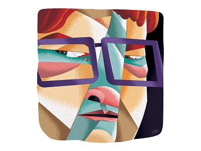 Death Stare vector contrast cintiq texture conceptual man face photoshop procreate digital art illustration illustrator