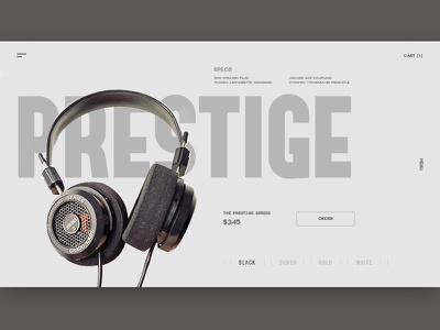 Prestige UI minimal clean ecommerce ux ui design website web