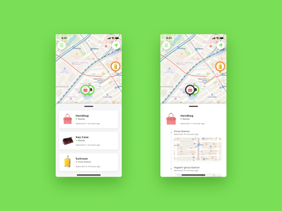 Location Tracker map app minimal ui design dailyuichallenge daily ui 020 dailyui