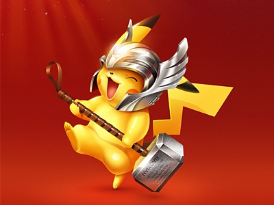 Happy New Year  xiaoxian ui icon hammer pikachu thor