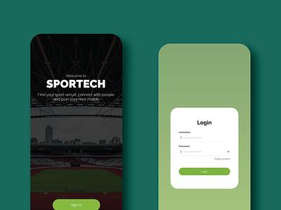 Sportech App design app ux ui