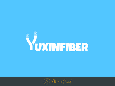Yuxin Fiber Logo design technology logo design typography logo design fiber