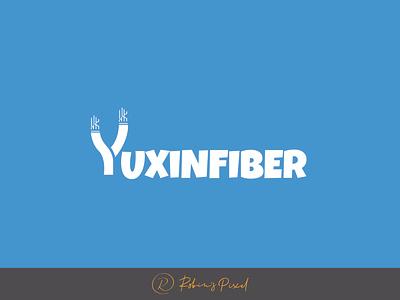 Yuxin Fiber Logo design technology logo design typography logo design fiber