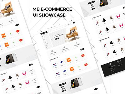 Ecommerce Web Design, Company- ME mockup online online store business landing page ui design ui trend branding store website web design homepage fashion ui ecommerce