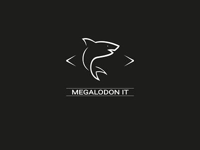 Megalodon IT typography illustration identity design identity logo trends 2020 logo trends tech logo tech branding logodesign logo design