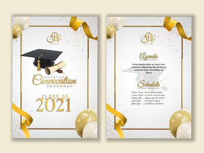 Convocation Ceremony Invitation Design 🎓 adobe photoshop convocation 2021 graduation invitation vector elegance illustration colorful design typography graphic design
