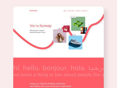 Runway Landing Page socialmedia branding branding agency website landing page animation website design